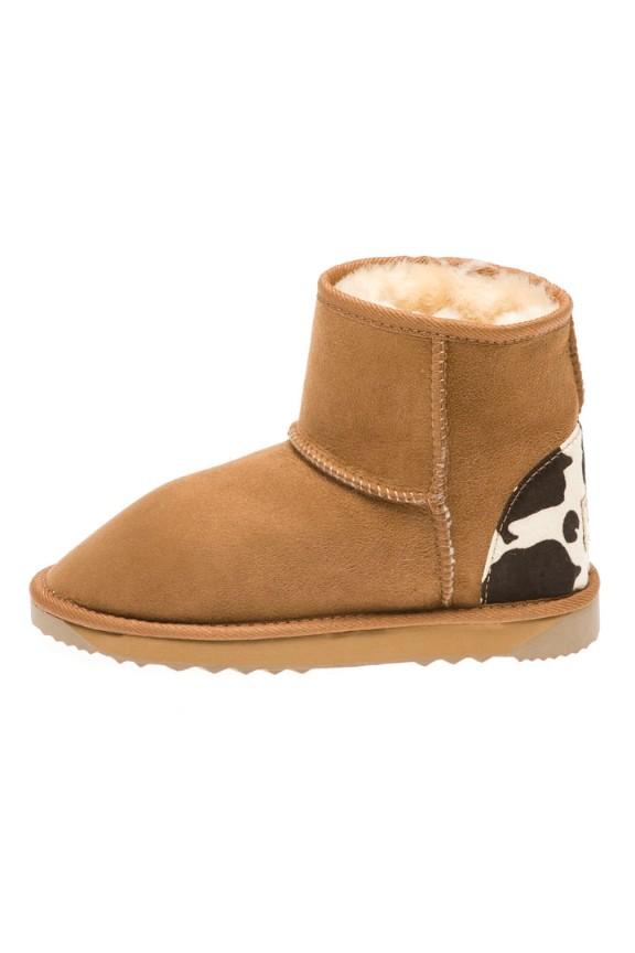 Ultra Short Cow Print Heel Australian Leather