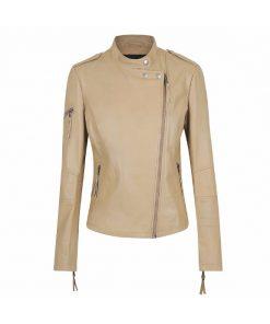 Louise Ladies Leather Jacket soft lamb skin leather Jacket sale