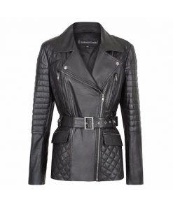 Suzannah Leather Jacket soft lambskin made to emasure Leatherjackets sale
